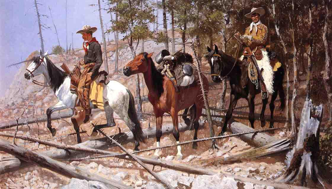 Prospecting for Cattle Range, Oil On Canvas by Frederic Remington (1861-1909, United States)