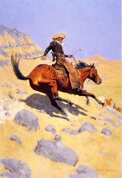 The Cowboy, Oil On Canvas by Frederic Remington (1861-1909, United States)