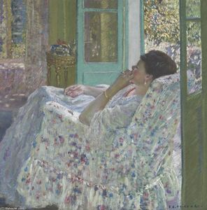 Frederick Carl Frieseke - Afternoon - Yellow Room