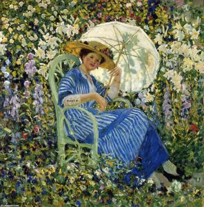 Frederick Carl Frieseke - In The Garden, Giverny