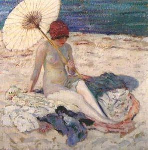 Frederick Carl Frieseke - Nude on the Beach