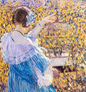 Frederick Carl Frieseke - The Birdcage