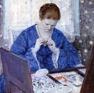 Frederick Carl Frieseke - The Gold Locket