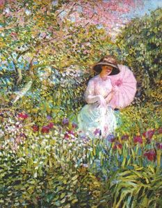 Frederick Carl Frieseke - The Pink Parasol