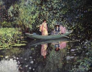 Frederick Carl Frieseke - Two Ladies in a Boat