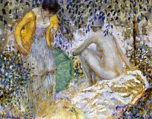 Frederick Carl Frieseke - Two Women On The Grass