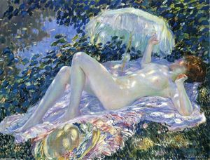 Frederick Carl Frieseke - Venus In The Sunlight