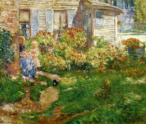 Frederick Childe Hassam - A Fisherman-s Cottage
