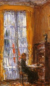Frederick Childe Hassam - At the Writing Desk