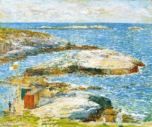 Frederick Childe Hassam - Bathing Pool, Appledore