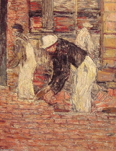 Frederick Childe Hassam - Bricklayers