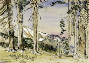 Frederick Childe Hassam - End of Timberline, Mt. Hood