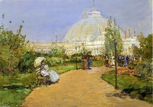 Frederick Childe Hassam - Horticultural Building, World-s Columbian Exposition, Chicago