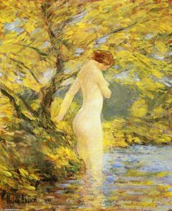 Frederick Childe Hassam - Numph Bathing