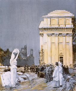Frederick Childe Hassam - Scene at the World-s Columbian Exposition, Chicago, Illinois