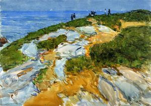 Order Reproductions | Sunday Morning, Appledore, 1912 by Frederick Childe Hassam (1859-1935, United States) | WahooArt.com