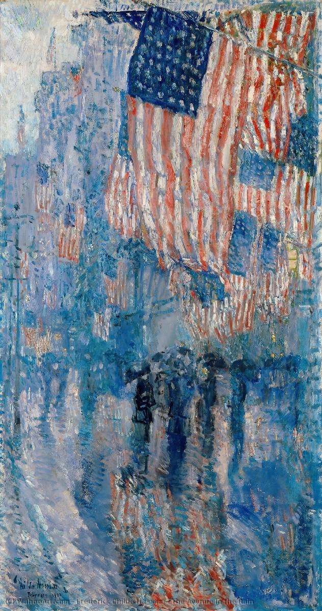The Avenue in the Rain by Frederick Childe Hassam (1859-1935, United States) | Art Reproduction | WahooArt.com