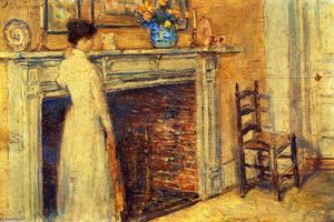 Frederick Childe Hassam - The Fireplace