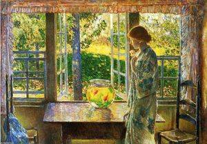 Frederick Childe Hassam - The Goldfish Window