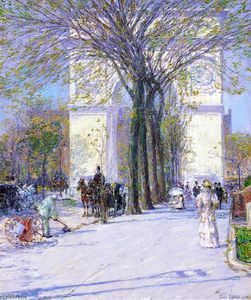 Frederick Childe Hassam - Washington Arch, Spring