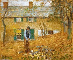 Frederick Childe Hassam - Woodchopper