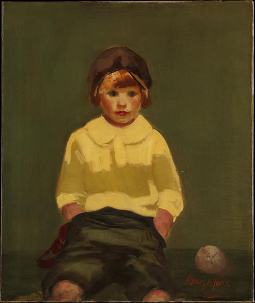 Boy with Baseball by George Benjamin Luks (1867-1933, United States) | Museum Quality Copies George Benjamin Luks | WahooArt.com
