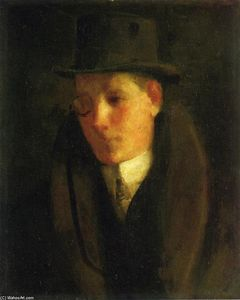George Benjamin Luks - Man with a Monocle
