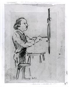 George Benjamin Luks - Self-Portrait - Caricature