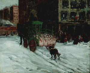 George Benjamin Luks - The Butcher Cart