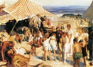 George Wesley Bellows - Beach at Coney Island