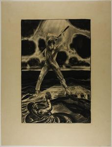 George Wesley Bellows - Drawing for ''The Black Hand''