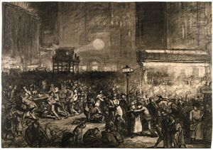 George Wesley Bellows - Election Night Times Square