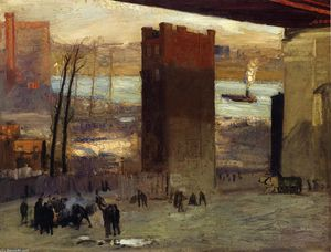 George Wesley Bellows - Lone Tenement