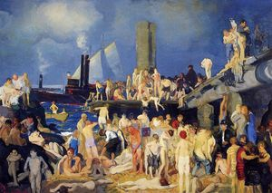 George Wesley Bellows - Riverfront, No. 1