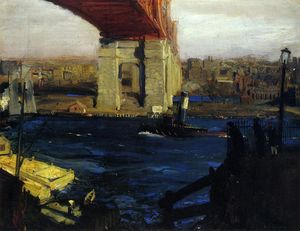George Wesley Bellows - The Bridge, Blackwell's Island