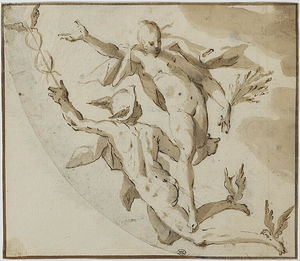 Hans Von Aachen - Mercury and Ceres flying through the air