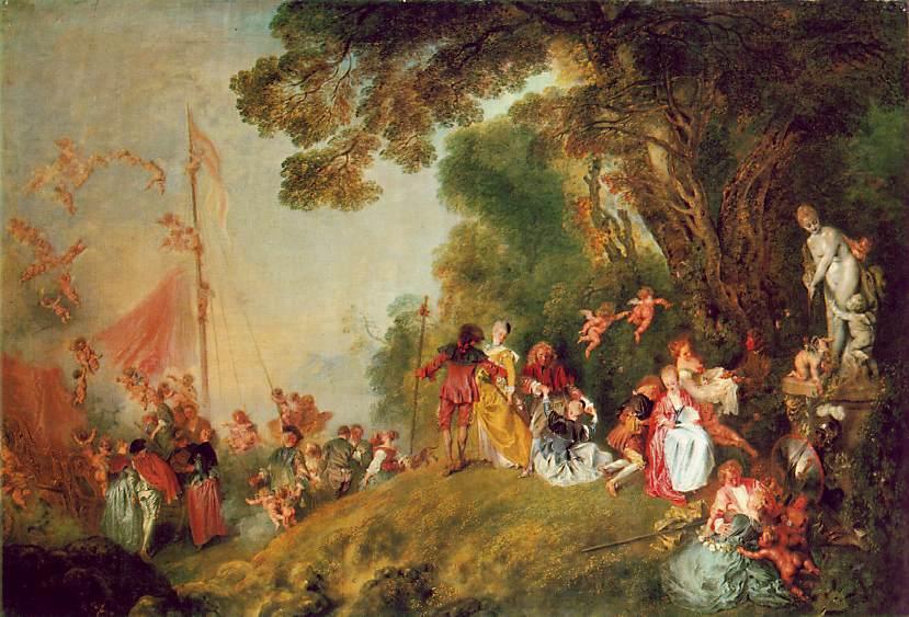 Jean-antoine-Watteau-Pilgrimage-to-Cythe