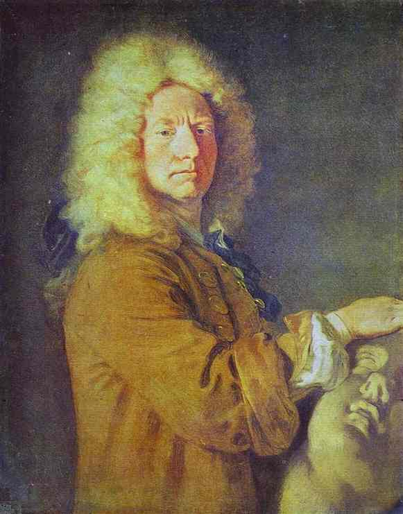 Portrait of M. Pater, Oil by Jean Antoine Watteau (1684-1721, France)