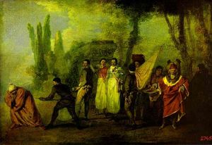 Jean Antoine Watteau - Satire on Physicians