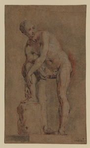 Jean Antoine Watteau - Study of an antique statue