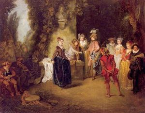 Jean Antoine Watteau - The French Theater