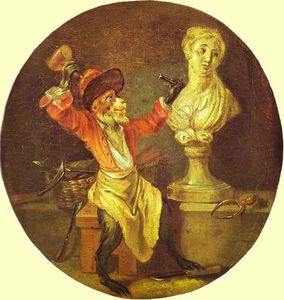 Jean Antoine Watteau - The Monkey Sculptor