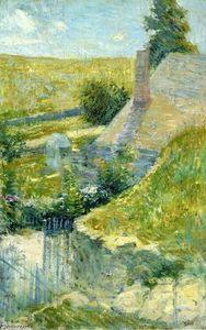 John Henry Twachtman - Artist's Home Seen from the Back