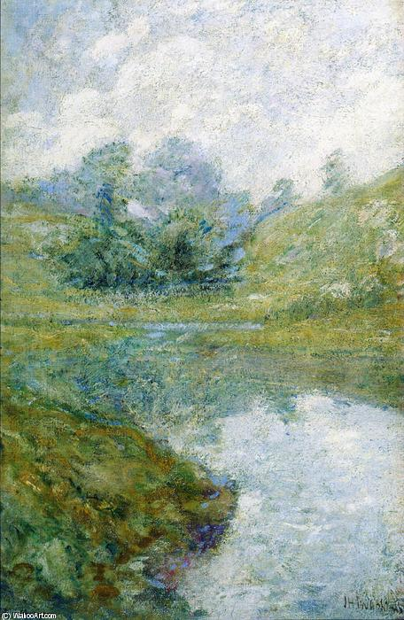 Landscape 3, Oil by John Henry Twachtman (1853-1902, United States)