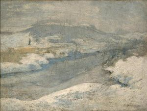 John Henry Twachtman - River in Winter