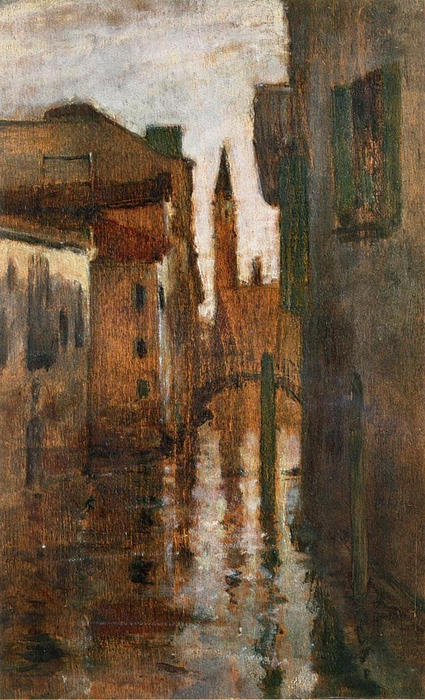 The Campanile, Late Afternoon by John Henry Twachtman (1853-1902, United States) | Art Reproduction | WahooArt.com