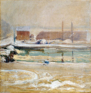 John Henry Twachtman - View from the Holley House, Winter
