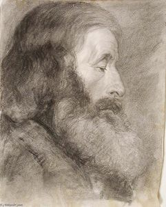 John Ottis Adams - Study Head, Bearded Man