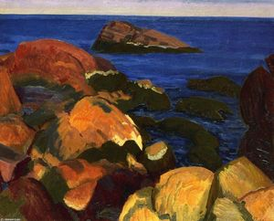 John Sloan - Rocks, Weeds and Sea