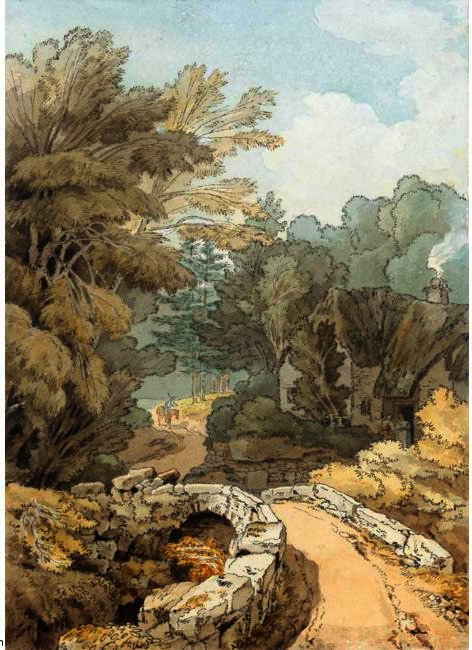 Order Reproductions | VIEW OF BUCKLAND, DEVON by John White Abbott (1763-1851, United Kingdom) | WahooArt.com